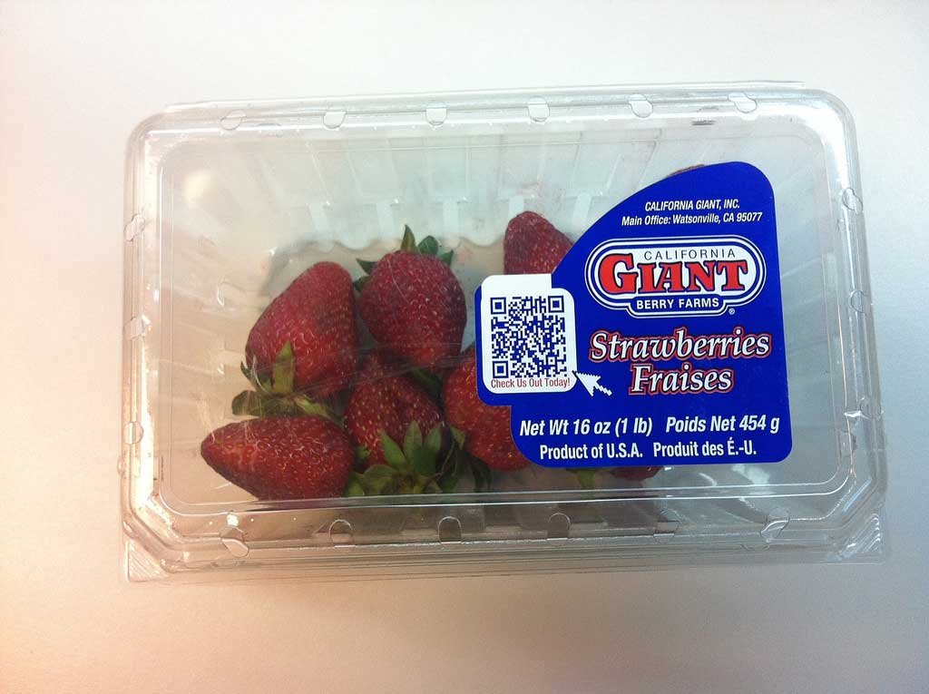 This on-package QR code is spreading some digital fairy dust for marketing purposes.